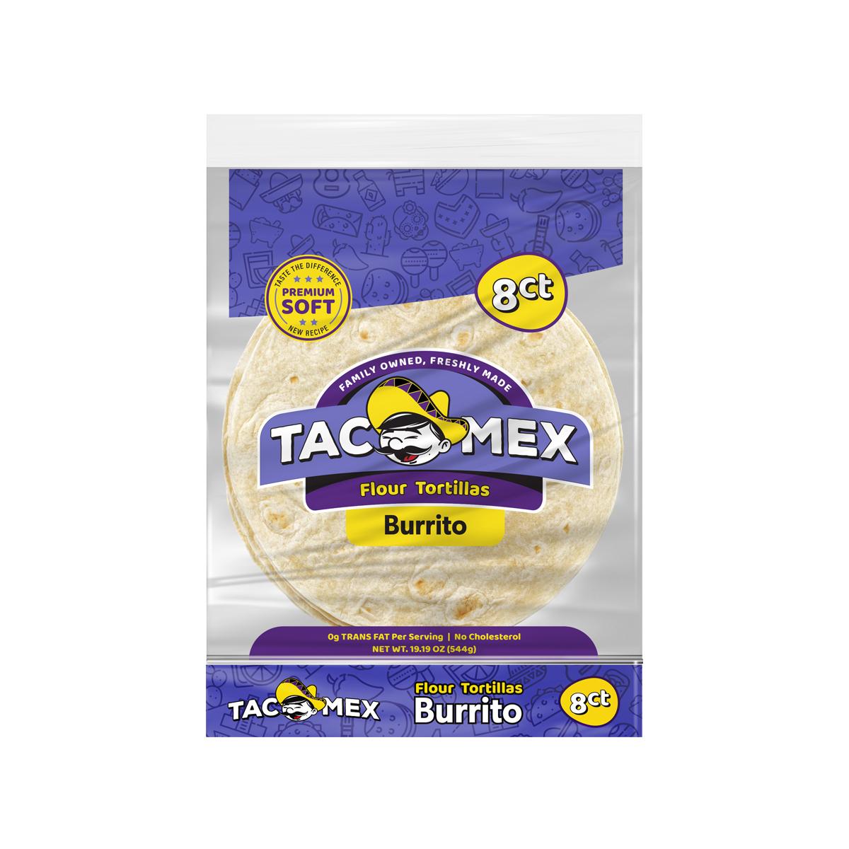 """Tortilla Trigo 10"""" Burrito Tacomex"""