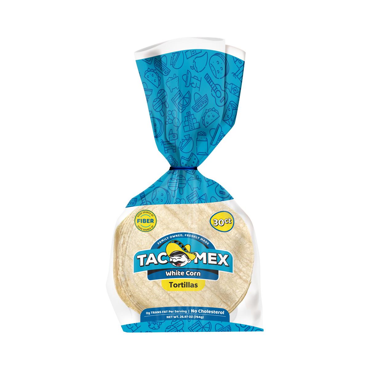 """Tortilla de Maiz Blanco 6"""" Tacomex"""