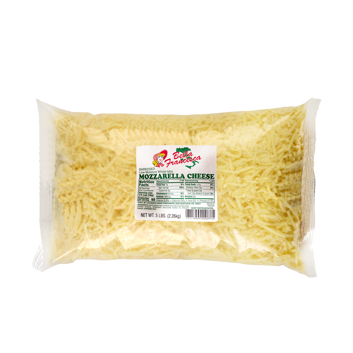 Queso Mozzarella Bella Francesca rallada