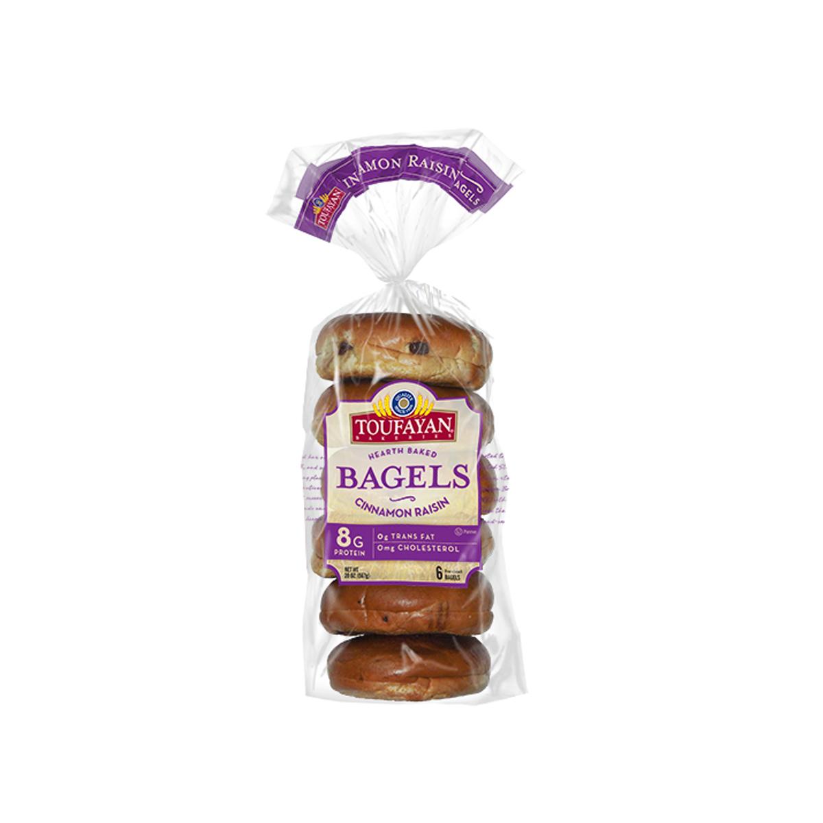 Bagel Cinnamon & Raisins Toufayan