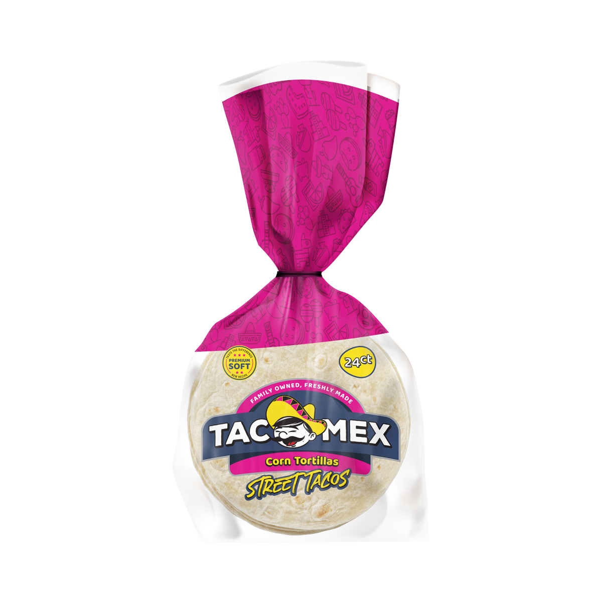 """Tortilla de Maiz Street Taco 4"""" Tacomex"""