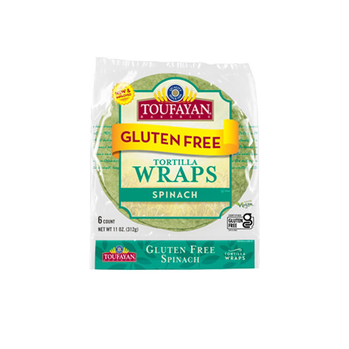 Wrap Sin Gluten de Espinaca